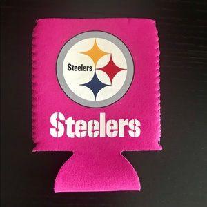 Pink Steelers Koozie